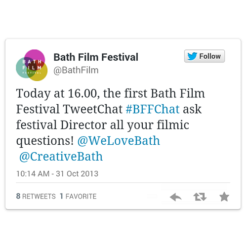 TweetChat del Bath Film Festival