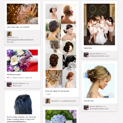 Pinterest wedding board