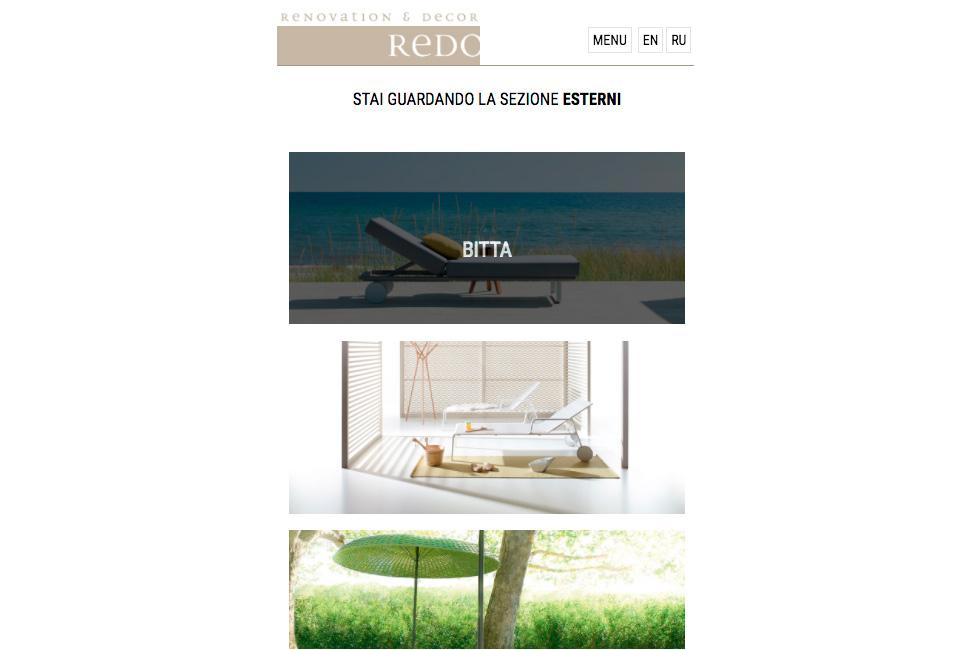 Progettazione siti internet per negozi di arredamento dodify for Siti di arredamenti
